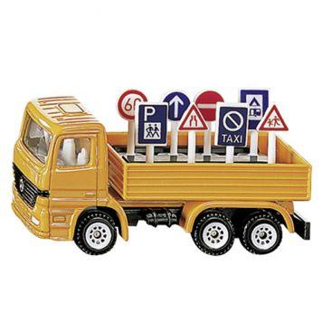 Siku 1322 Auto Vrachtwagen Met Verkeersborden