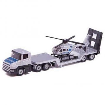 Siku 1610 Auto Vrachtwagen Dieplader Met Helikopter