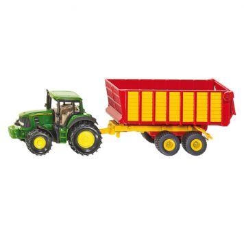 Siku 1650 Tractor John Deere Met Hooiwagen