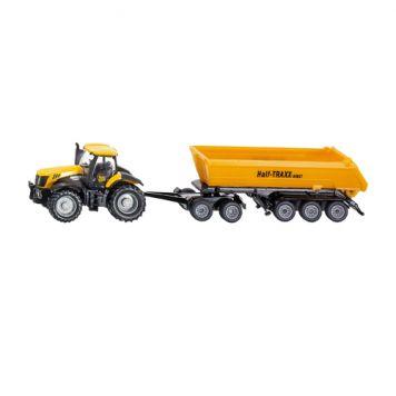Siku 1858 Tractor JCB 8250 Met Aanhanger