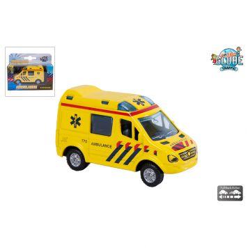 Auto Diecast Pull Back Ambulance 8 Cm