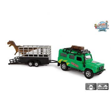 Auto Diecast Land Rover Dino Trailer Pullback