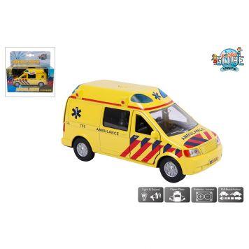 Auto Pull Back Ambulance Met Geluid