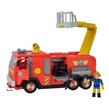 Voertuig Brandweerman Sam Brandweerauto Jupiter 28 Cm B/O