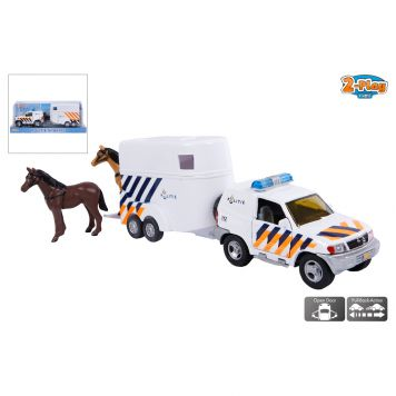 Auto Paardentrailer Politie
