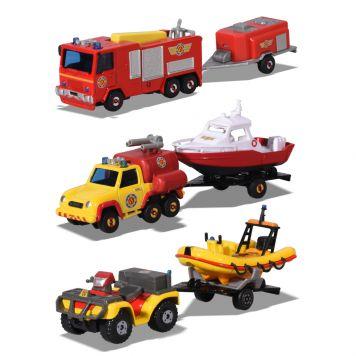 Brandweerman Sam Trailerset 3 Assorti