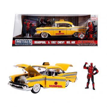 Auto Diecast Yellow Taxi Deadpool