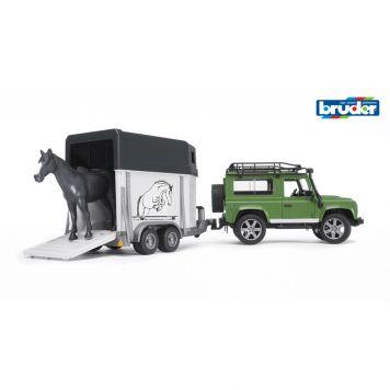Bruder Jeep Landrover Met Paardentrailer