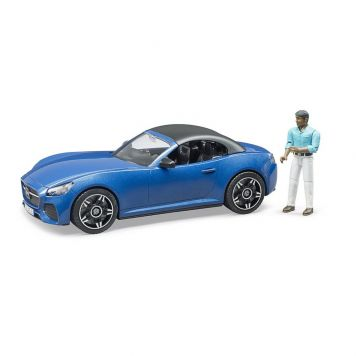 Auto Roadster Blauw Met Chauffeur