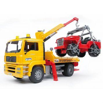 Bruder Auto Vrachtwagen Bergingstruck Met Jeep