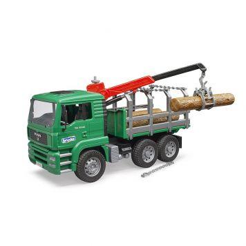 Bruder Auto Vrachtwagen MAN Met Bomen