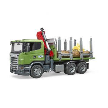 Bruder Auto Vrachtwagen Scania Met Boomstammen