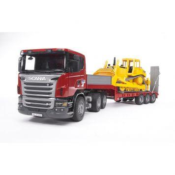 Bruder Auto Vrachtwagen Scania R-Serie Dieplader  Met Cat® Bulldozer