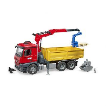 Bruder Auto Vrachtwagen MB Arocs Met Kraan