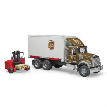 Vrachtwagen MACK UPS Met Heftruck