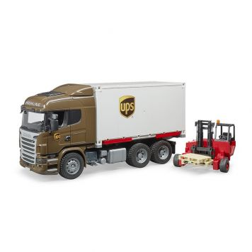 Vrachtwgen Scania UPS Met Heftruck