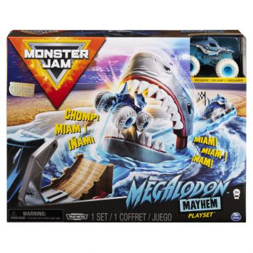 Monster Jam Megalodon Playset With Truck 1:64