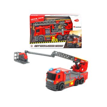 Brandweer Truck Met Ladder Rosenbauer Licht En Geluid