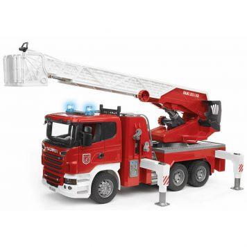 Bruder Auto Brandweerwagen Scania  Met Licht En Geluid