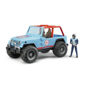 Bruder Jeep Cross Country Racer Blauw Met Rijder