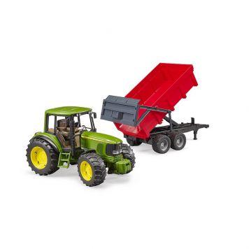 Bruder Tractor John Deere 6920 Met Aanhanger