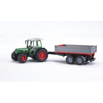 Bruder Tractor Fendt 209 S Met Aanhanger
