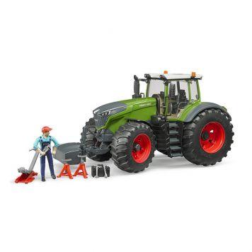 Bruder Tractor Fendt 1050 Vario Met Monteur En Garage Accessoires