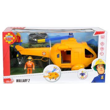 Helikopter Wallaby Brandweerman Sam + Figuur