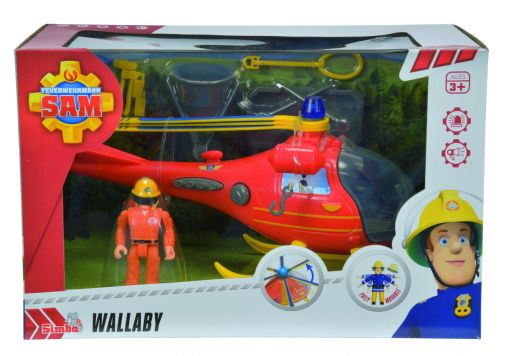Brandweerman Sam Heli + Figuur Battery Operated
