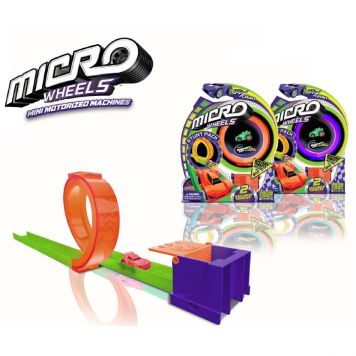 Micro Wheels Baan Met 1 Looping Assorti
