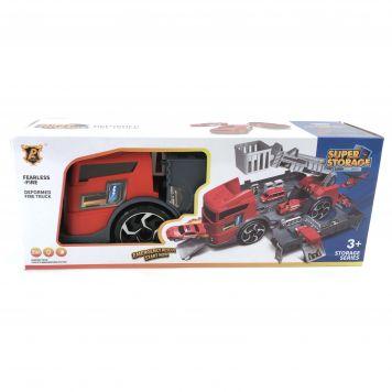 Speelset Brandweer Garage In Truck