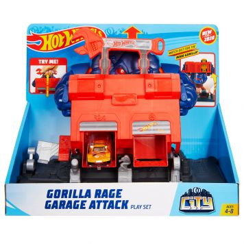 Hot Wheels City Razende Gorilla Garage Aanval Speelset