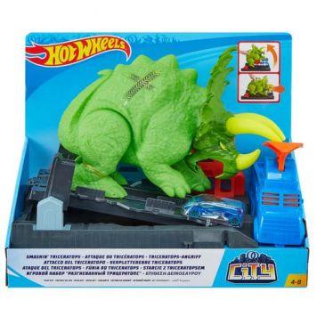 Hot Wheels City Verpletterende Triceratops Speelset
