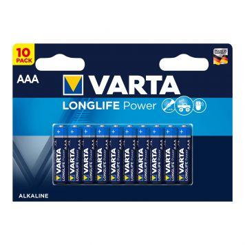 Batterij AAA 10x Varta Alkaline Longlife Power