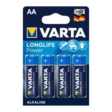 Batterij AA 4x Varta Alkaline Longlife Power