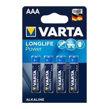 Batterij AAA 4x Varta Alkaline Longlife Power