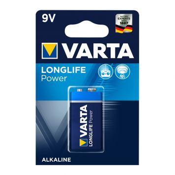 Batterij 9V Varta Alkaline Longlife Power