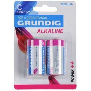 Batterijen C 2 Stuks Grundig Alkaline 3000mAh