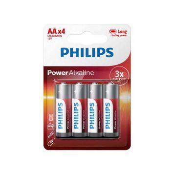 Batterij AA 4 Stuks Philips Alkaline