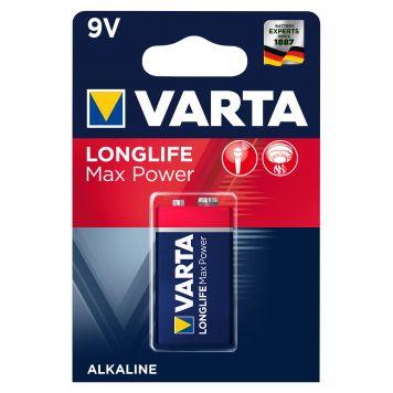 Batterij 9V Varta Alkaline Max Power