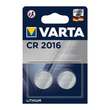 Batterijen CR2016 2 Stuks Varta Knoopcel