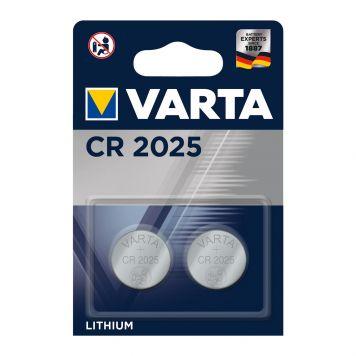 Batterijen CR2025 2 Stuks Varta Knoopcel