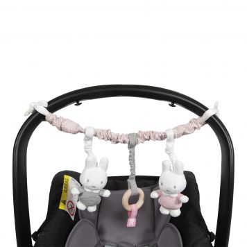 Nijntje Autostoelspeeltje Roze Babyrib