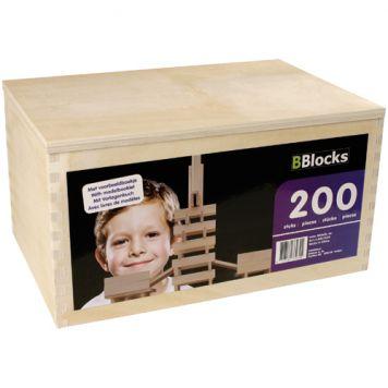 Bouwplankjes Bblocks In Kist 200 Stuks
