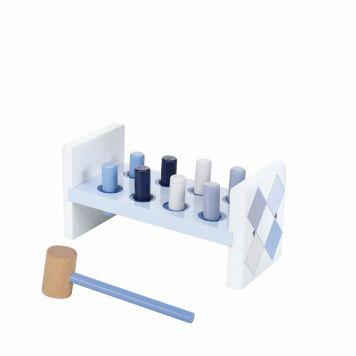 Jipy Hamerbank Hout 8 Delig Blauw