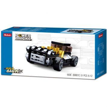 Sluban Power Brick Car Black Hod Rod