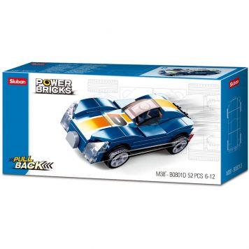 Sluban Power Brick Car Blue Monster