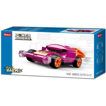 Sluban Power Brick Car Purple Wing