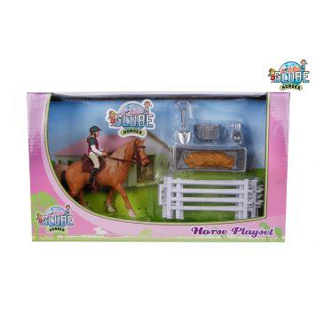 Paarden Speelset Paard Met Ruiter En Accessoires