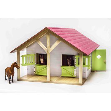 Paardenstal Met 2 Boxen en Berging Roze
